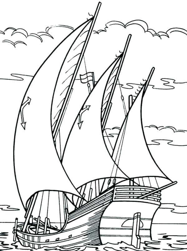 600x804 Coloring Pages Racing Boats Kids Coloring Submarine Boat Coloring