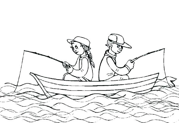 600x413 Coloring Pictures Of Boats Coloring Pages Boats Rugged Boat