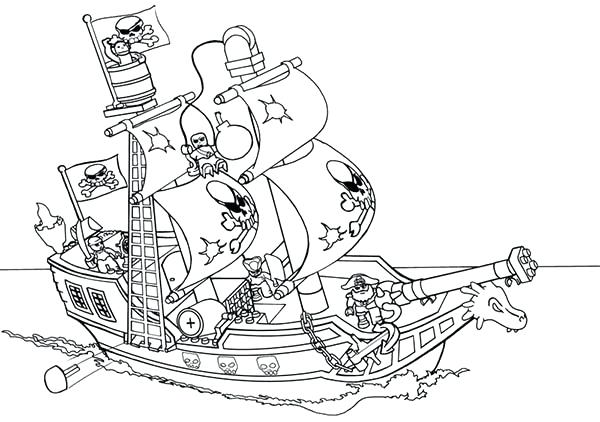600x422 Lego Boat Colouring Pages Kids Coloring Police Boat Coloring Pages