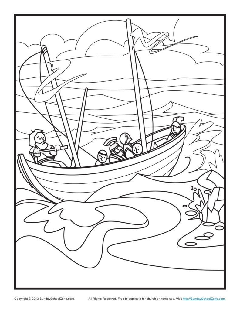 791x1024 Rugged Boat Coloring Page Free Ship Pages Fishing Boats Best