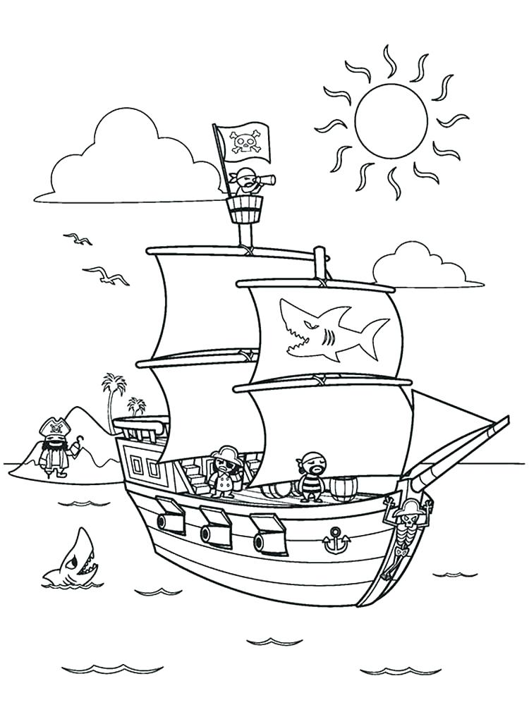 750x1000 Ship Coloring Pages Pirate Ship Coloring Pages Ferry Boat Coloring