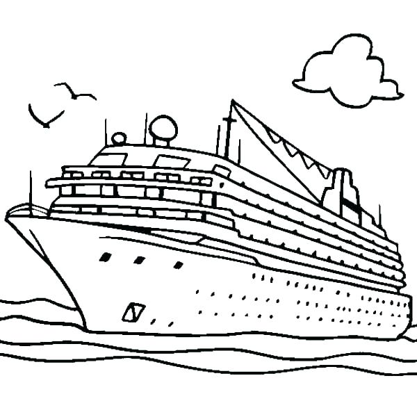 600x600 Speed Boat Coloring Pages Boat Coloring Pages Seaside Coloring