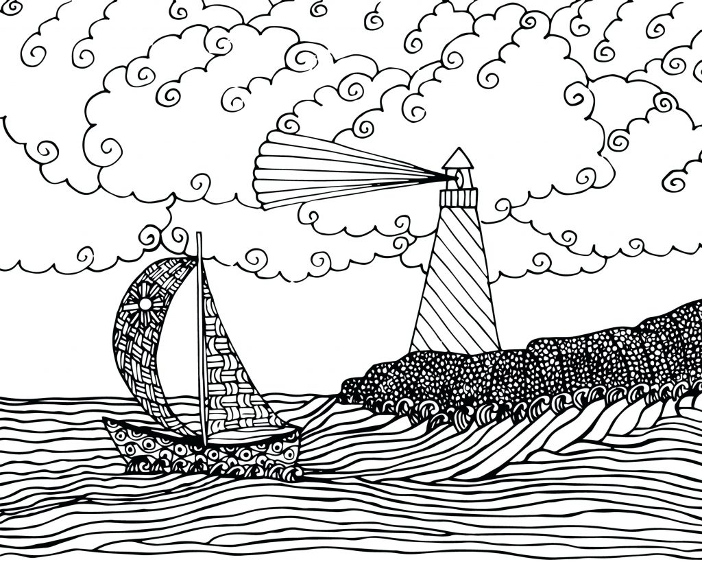 1024x819 Coloring Page Boat Coloring Page Big Pirate Ship Coloring Pages