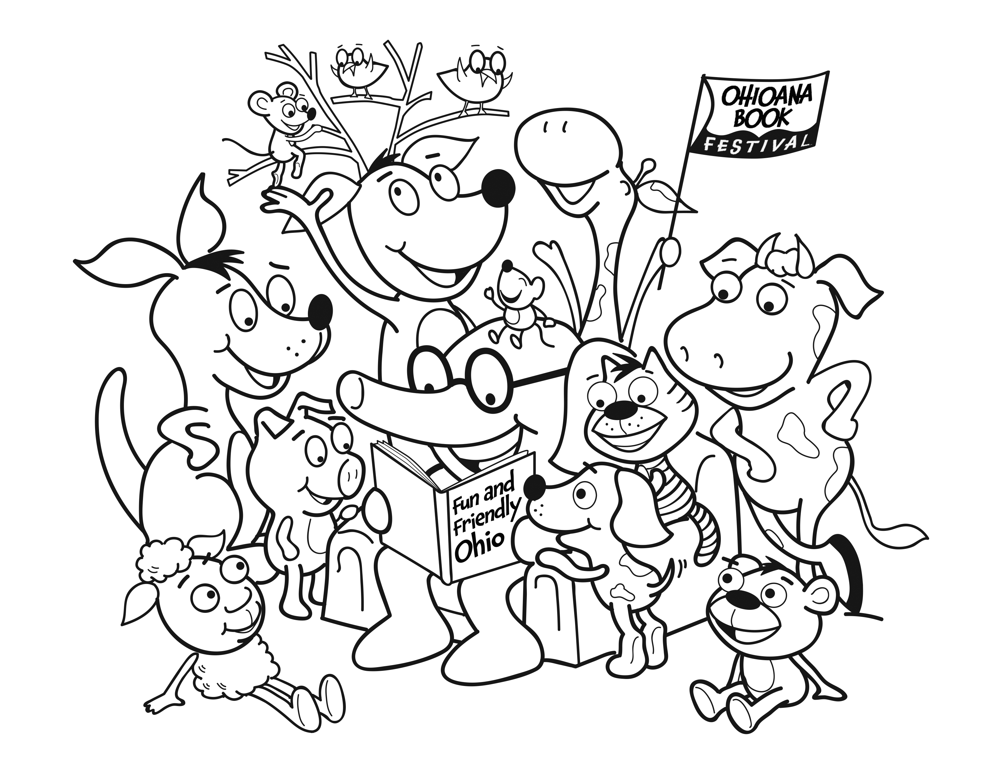 3300x2550 Ohio Central And South Ohioana Book Festival Coloring Pages