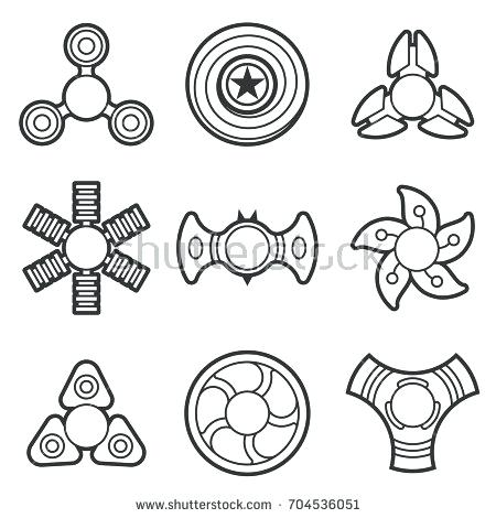 photo about Printable Fidget Spinner Template identify Fidget Spinner Coloring Web pages at  No cost for
