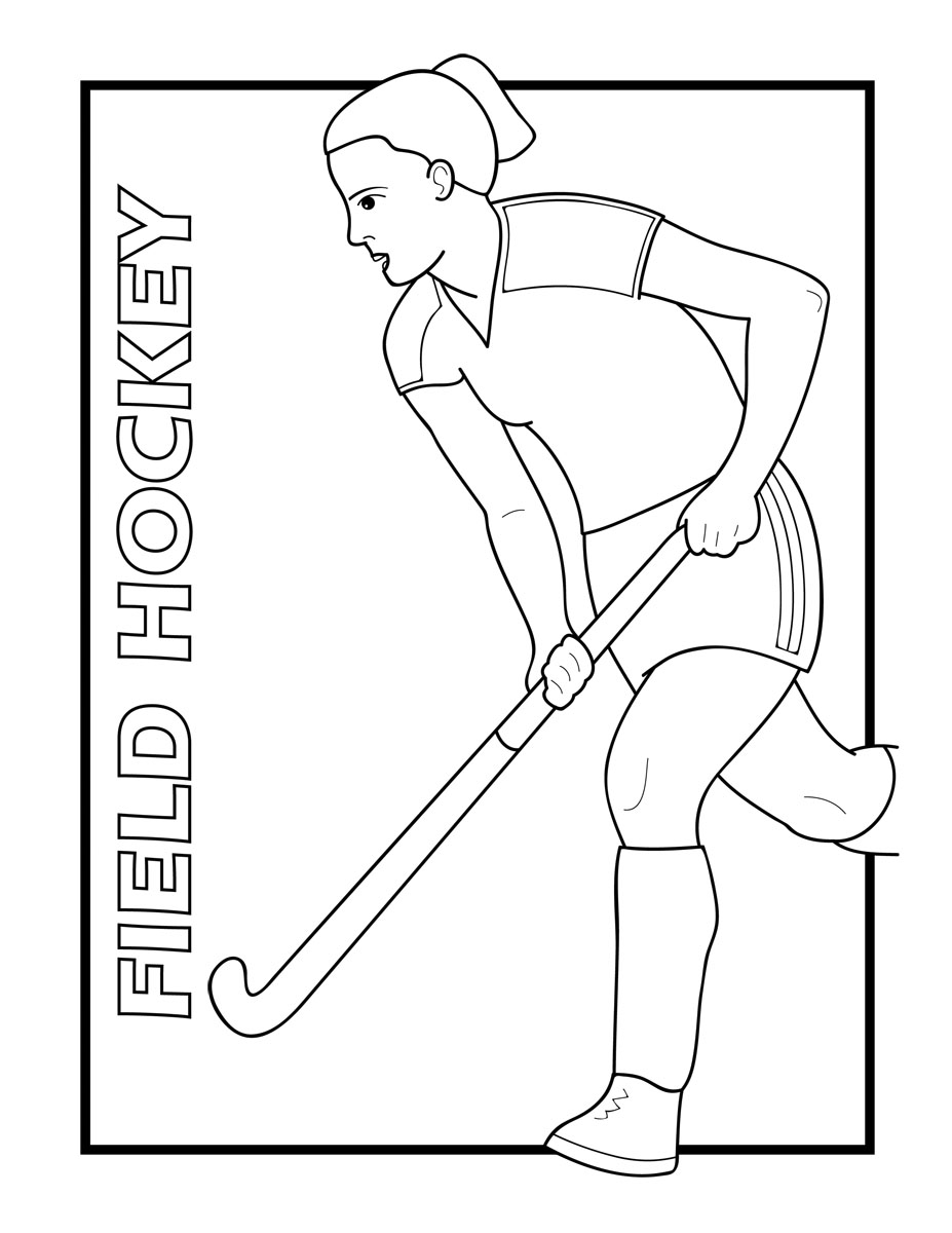 Field Hockey Coloring Pages