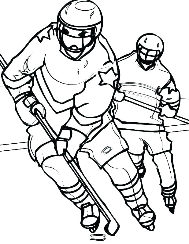 618x800 Amazing Hockey Player Coloring Page Amazing Hockey Player Coloring
