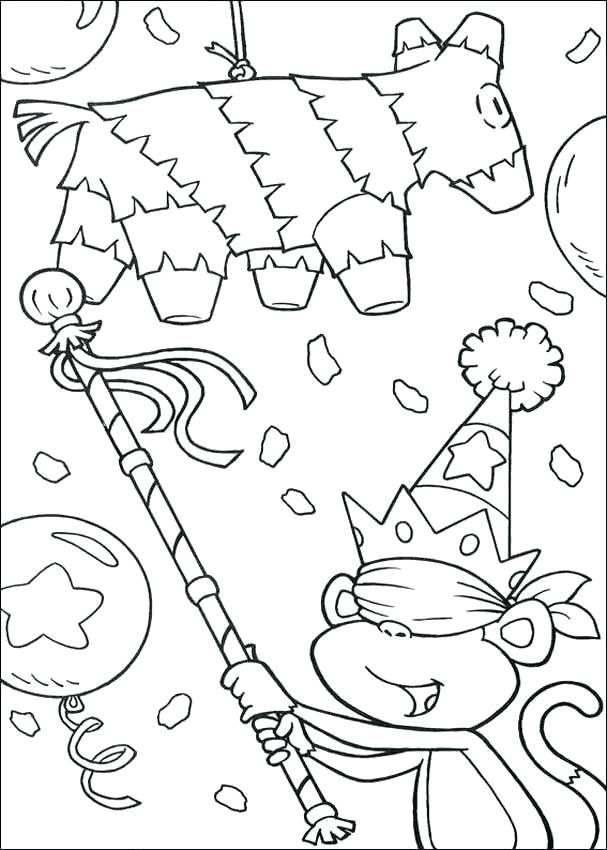 607x850 Fiesta Coloring Pages Print Birthday Party The Explorer Coloring