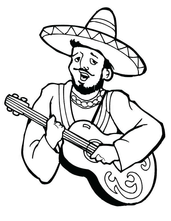 600x776 Maracas Coloring Pages Fiesta Coloring Pages Maracas Coloring