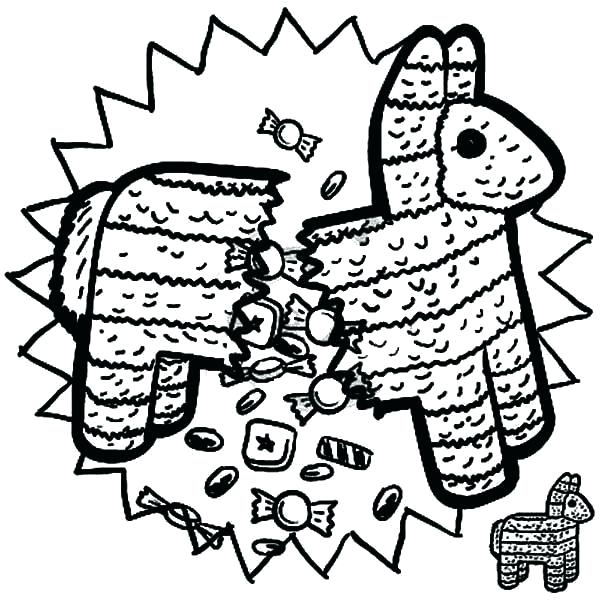 600x600 Mexican Coloring Pages Coloring Pages Pinata Coloring Page Fiesta