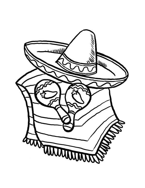 600x776 Fiesta Coloring Page Preschool