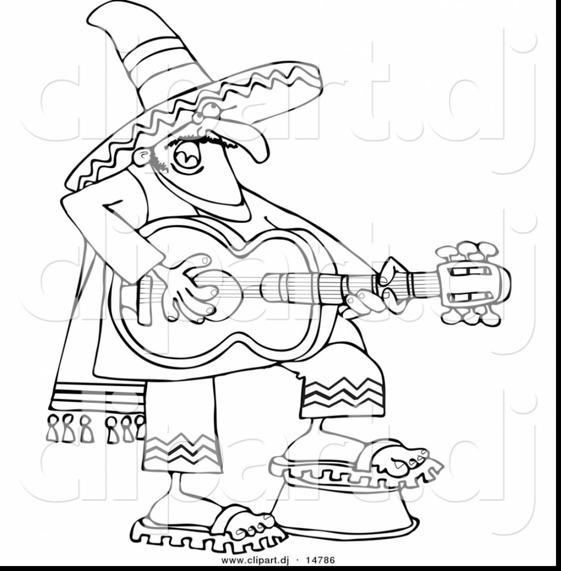 1126x1148 Mexican Sombrero Coloring Page