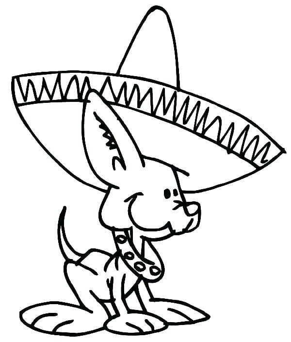 600x705 Sombrero Coloring Page Sombrero Coloring Page Fiesta Coloring