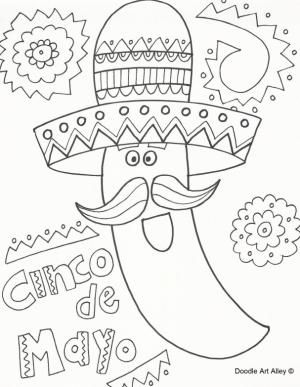 Fiesta Coloring Pages Free Printable