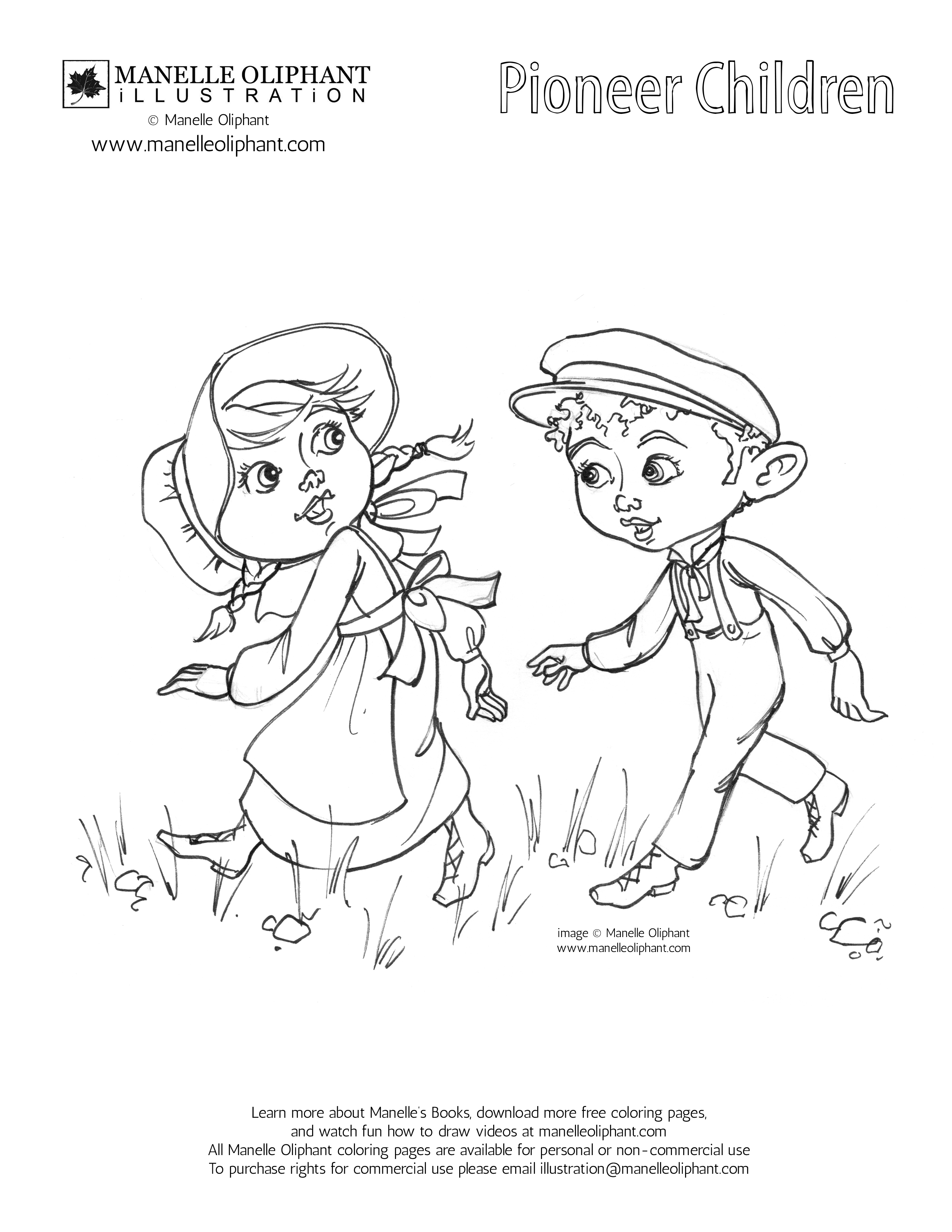 2550x3300 Manelle Oliphant Illustration Free Coloring Page Friday Pioneer