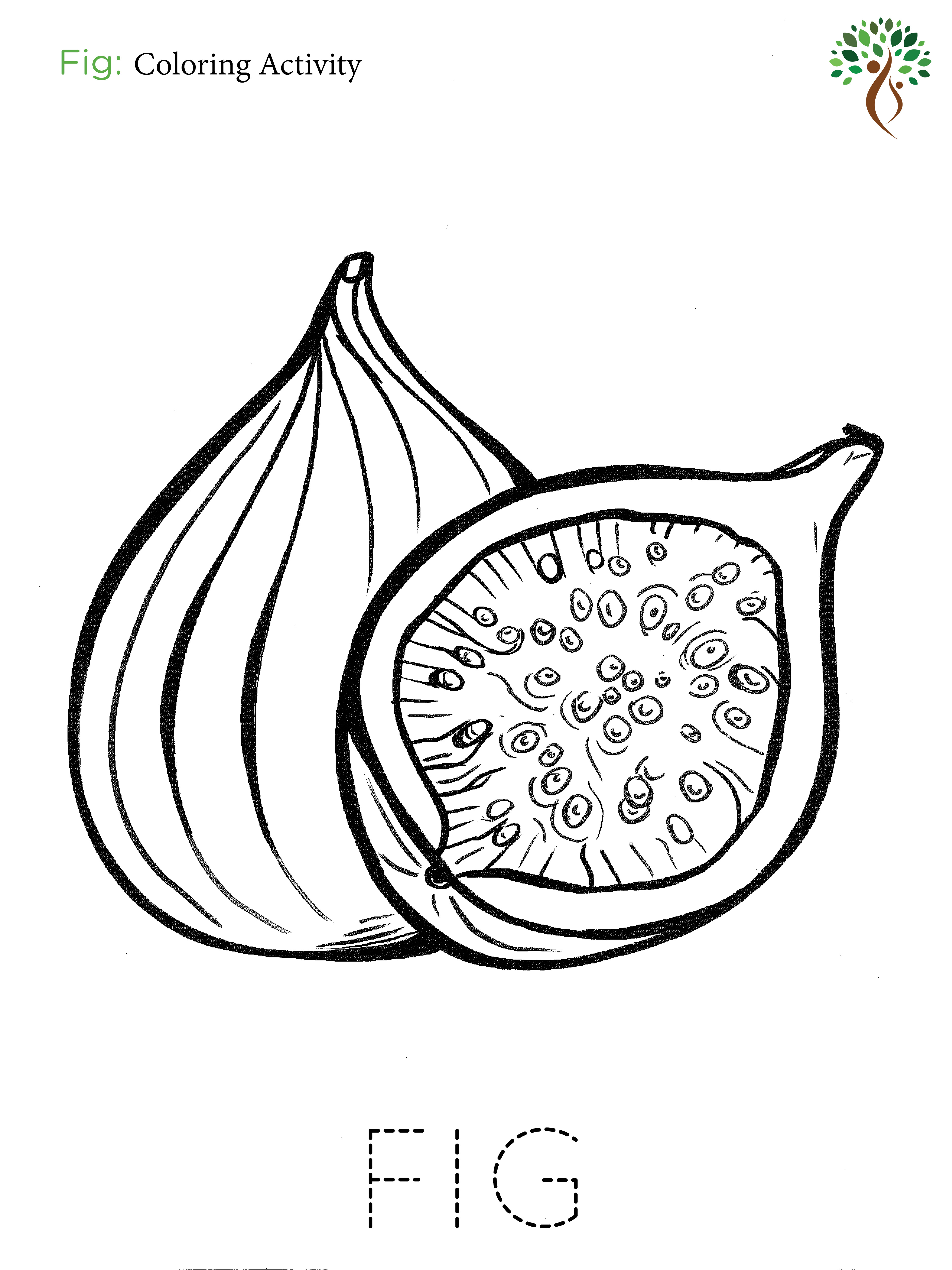 Fig Coloring Page