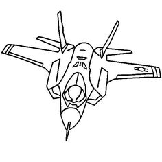 236x236 Military Jet Fighter Airplane Coloring Page Cinco