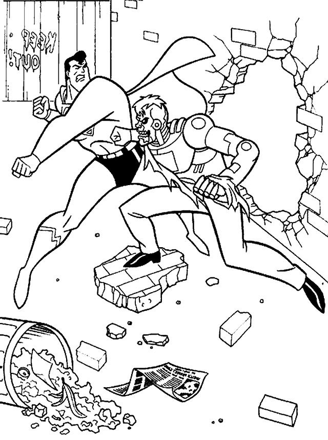Fighting Coloring Pages
