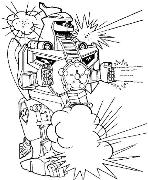 Fighting Robot Coloring Pages