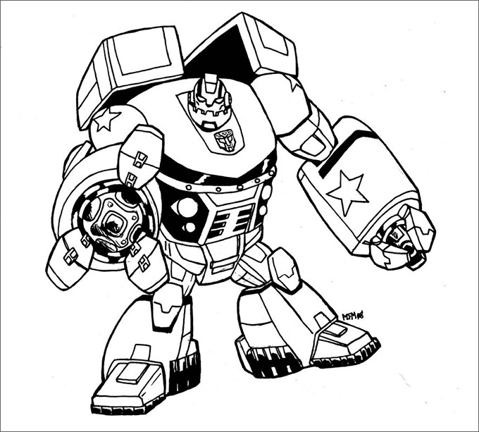 Fighting Robot Coloring Pages at GetDrawings | Free download