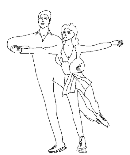 424x506 Figure Skating Coloring Page Coloring Book