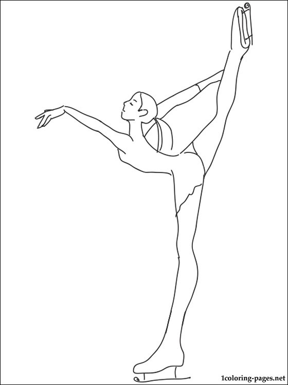 560x750 Figure Skating Coloring Page Coloring Pages