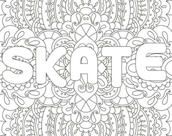 340x270 Printable Coloring Pages Zentangle Figure Skating Coloring