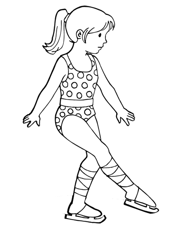 650x808 The Girl Figure Skater Coloring Page Dance And Skating Crafts