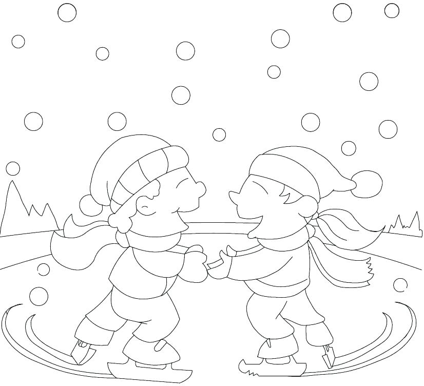 826x752 Ice Skating Coloring Pages Icontent