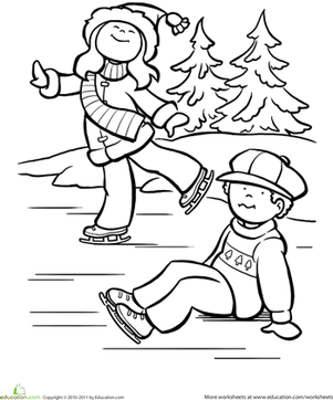 301x362 Best Photos Of Ice Skating Coloring Pages Printable