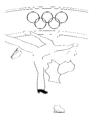 304x392 Coloring Page Pair Figure Skating