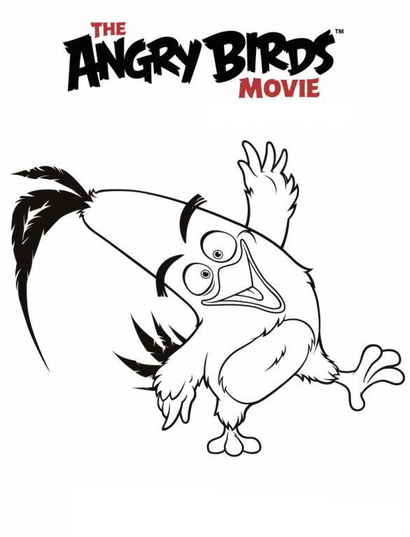 586x768 Kids N Coloring Pages Of Angry Birds Movie