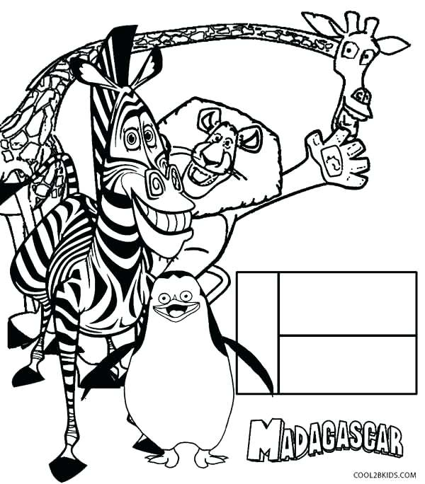 600x684 Madagascar Coloring Pages Coloring Pages Printable Madagascar Film