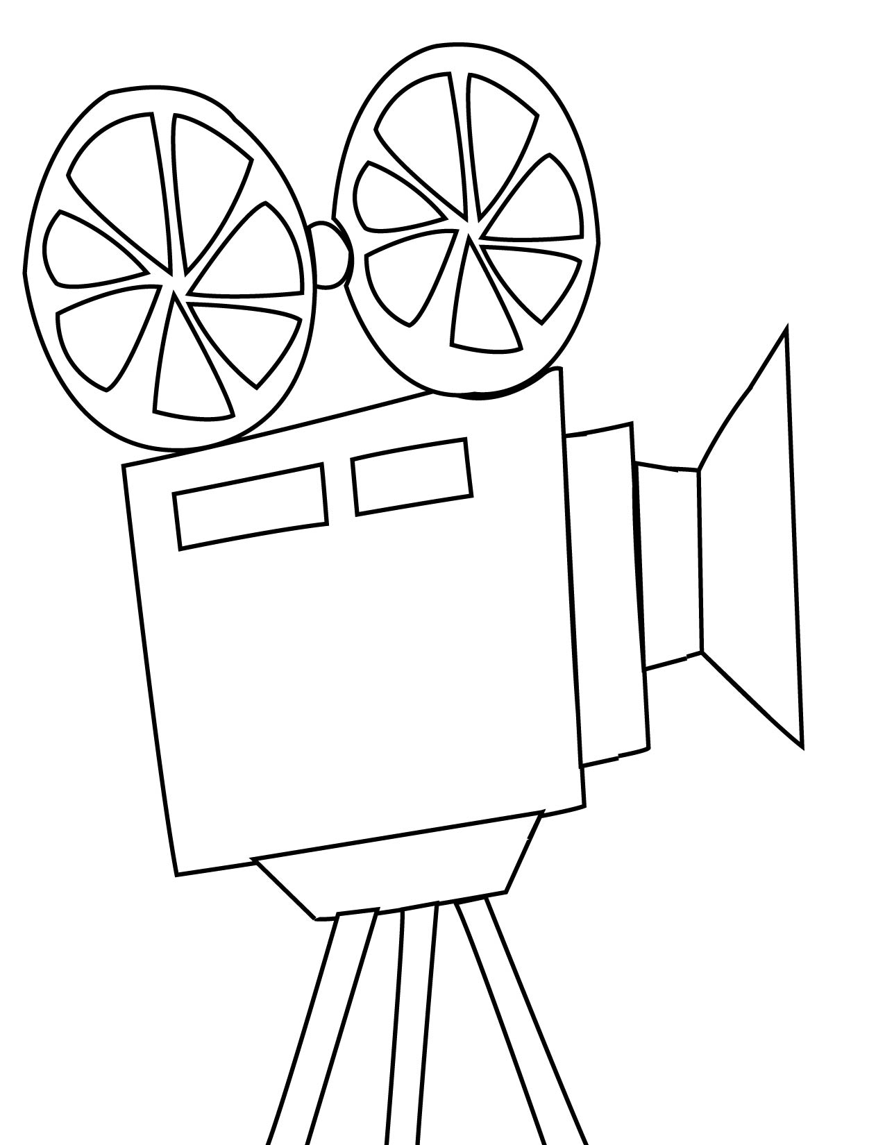 1275x1650 Movie Projector Coloring Page