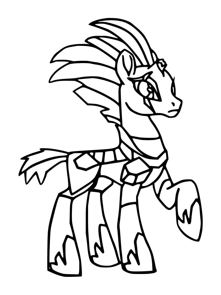 768x1024 My Little Pony Movie Coloring Page Tempest Shadow