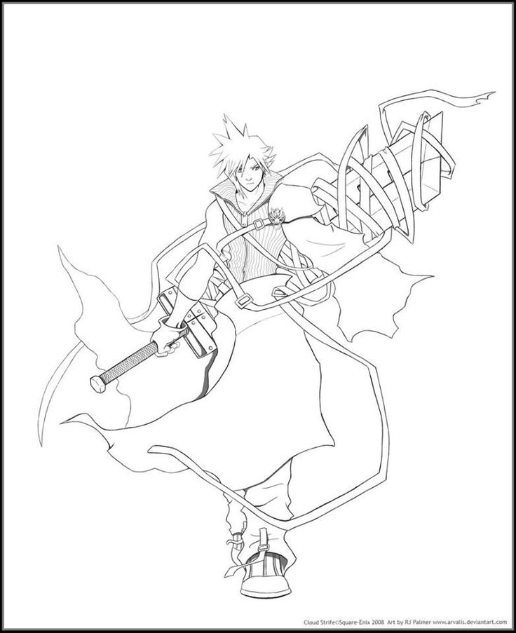 Final Fantasy 7 Coloring Pages