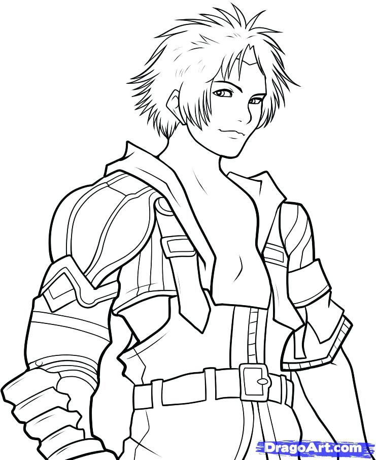 741x906 Final Fantasy Coloring Pages Final Fantasy Drawing Coloring