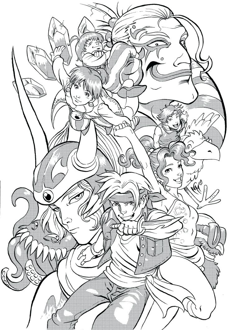 736x1059 Final Fantasy Coloring Pages Final Fantasy Adult Coloring Pages