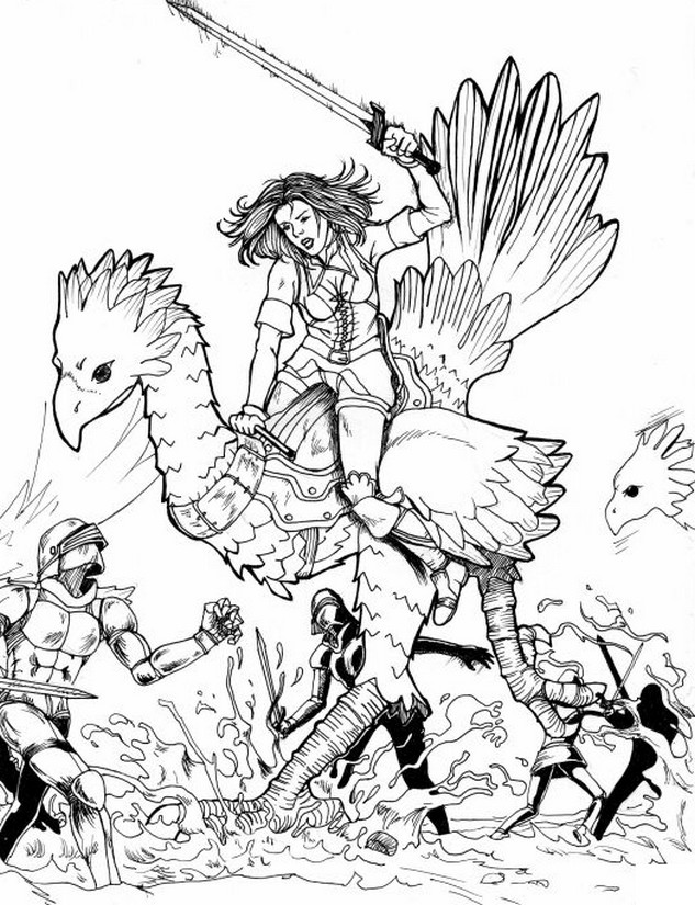 633x825 Coloring Pages Final Fantasy Drawing
