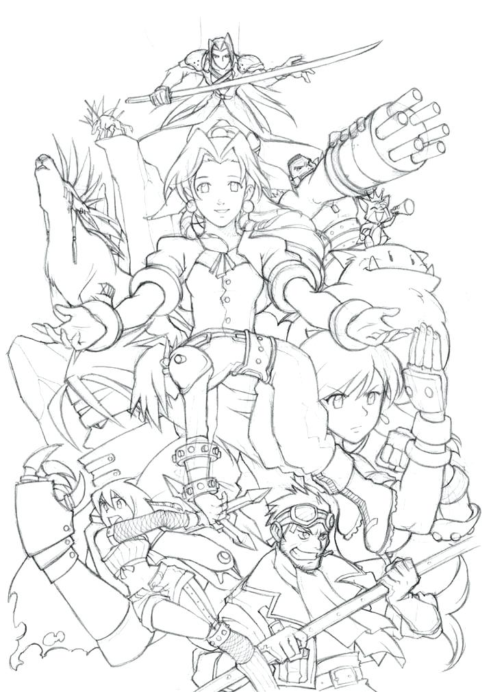 736x1010 Final Fantasy Coloring Pages Fantasy Coloring Book Together
