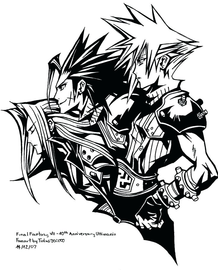 736x909 Final Fantasy Coloring Pages Final Fantasy Coloring Pages Pictures