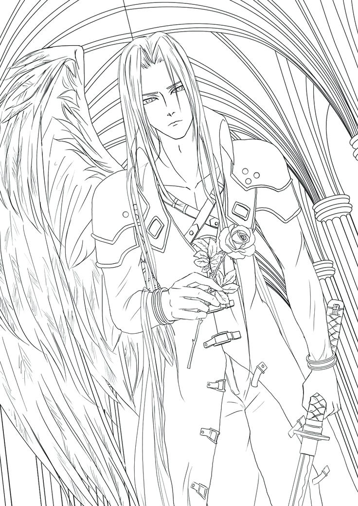 736x1040 Final Fantasy Coloring Pages Ideas Final Fantasy Coloring Pages