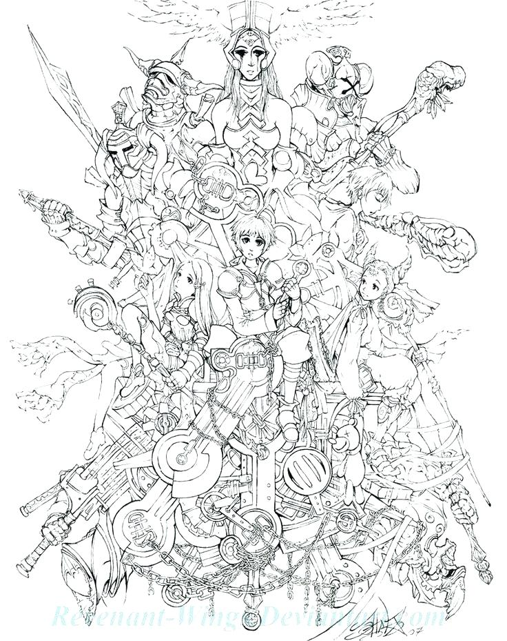 736x929 Final Fantasy Coloring Pages This Is Fantasy Coloring Pages Images