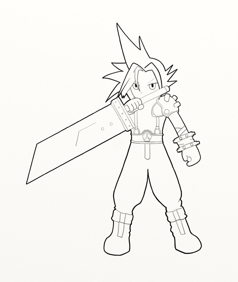 820x974 Lujo Final Fantasy Coloring Pages