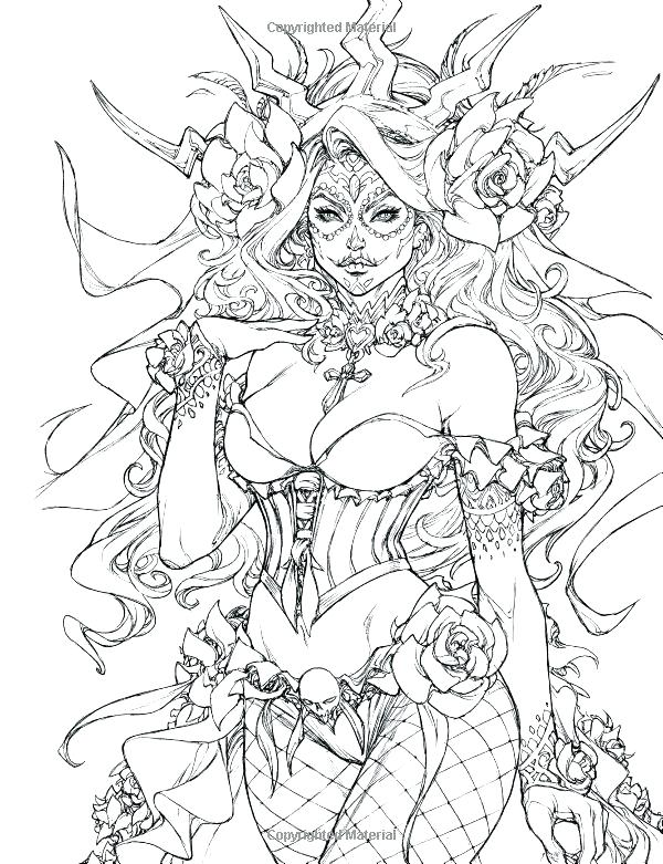 600x781 Fantasy Coloring Pages