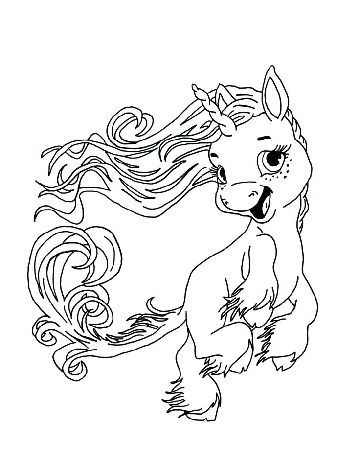 736x952 Fantasy Coloring Pages Cute Baby Unicorn Coloring Page Final