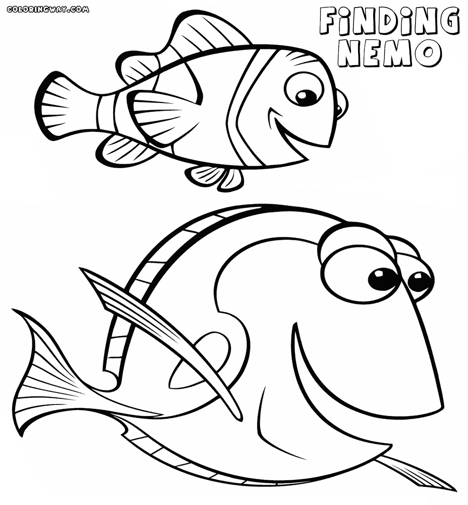 928x1000 Dory Coloring Pages Luxury Finding Nemo Dory Coloring Pages