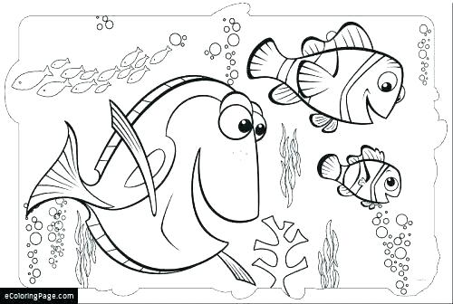 500x336 Dory Fish Coloring Dory Fish Coloring Lovely Dory Coloring Pages