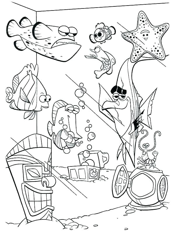 600x796 Finding Nemo Coloring Pages Finding Coloring Page Finding Coloring