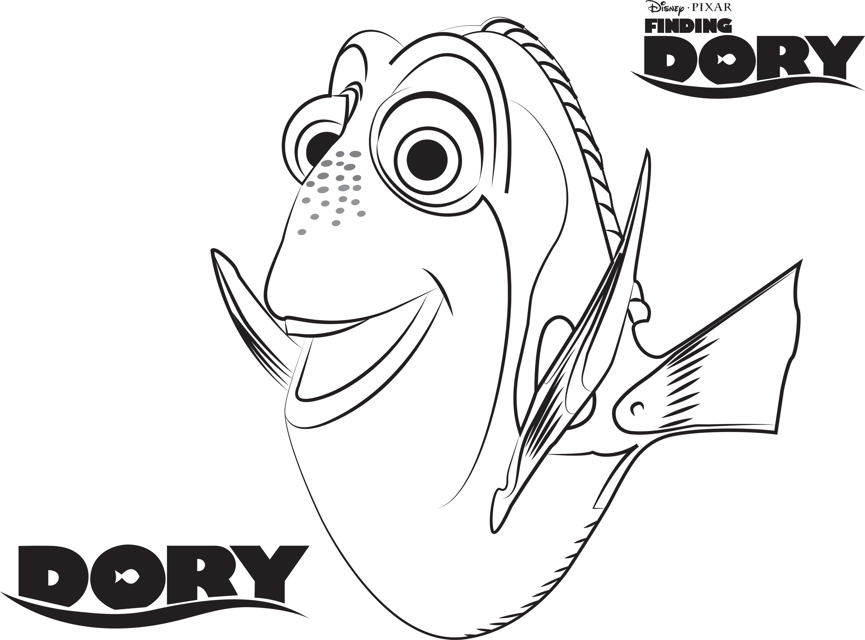 2923x2163 Finding Dory Coloring Pages